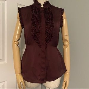 ⚠ Converse silky ruffle button up blouse